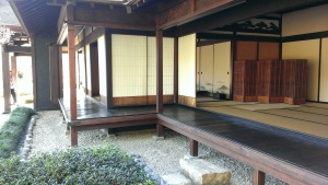 Japanese teahouse interior