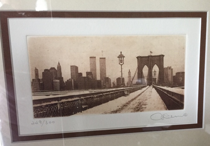 Cityscape, by Michael Leu, etching from the collection of the author.