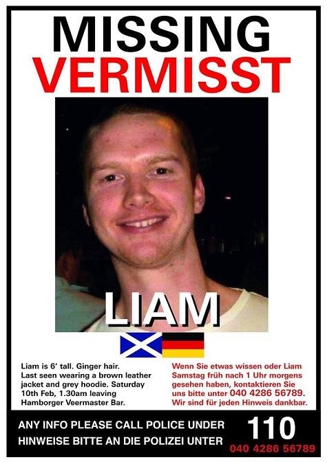 Missing in Hamburg Liam Colgan Poster